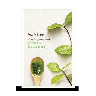 悦诗风吟真萃鲜润面膜-绿茶-10月