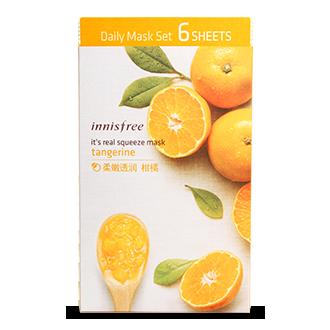 悦诗风吟真萃鲜润面膜 柑橘 6片 真萃买5送1